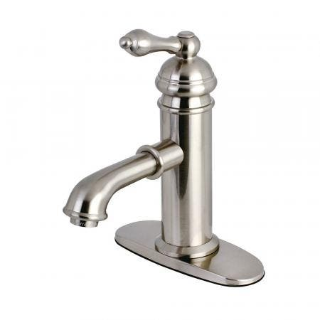 Kingston Brass KS7418ACL American Classic Single-Handle Bathroom Faucet, Brushed Nickel