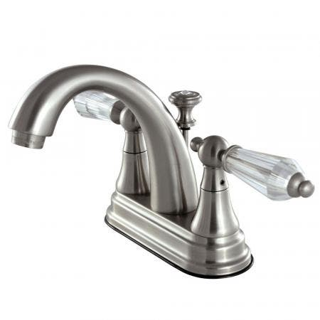 Kingston Brass KS7618WLL 4 in. Centerset Bathroom Faucet, Brushed Nickel