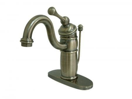 Kingston Brass KB1403BL Victorian Single-Handle Bathroom Faucet with Pop-Up Drain, Antique Brass