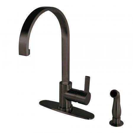 Gourmetier LS8715CTLSP Continental Single-Handle Kitchen Faucet with Side Sprayer, Oil Rubbed Bronze