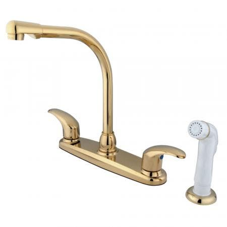 Kingston Brass GKB712LL Legacy Centerset Kitchen Faucet, Polished Brass