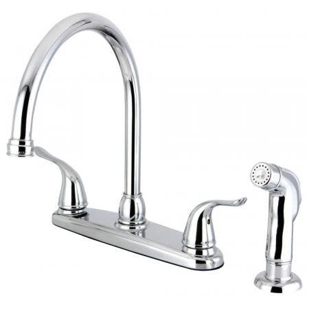 Kingston Brass FB2791YLSP Yosemite 8-Inch Centerset Kitchen Faucet with Sprayer, Polished Chrome