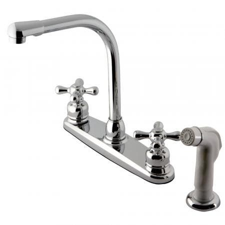 Kingston Brass KB711AX Victorian Centerset Kitchen Faucet, Polished Chrome