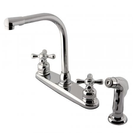 Kingston Brass KB711AXSP Victorian Centerset Kitchen Faucet, Polished Chrome