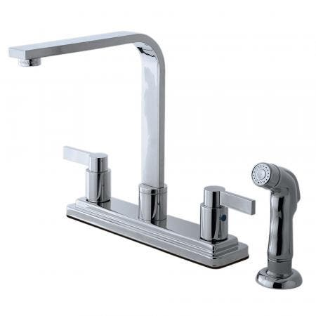 Kingston Brass KB8791NDLSP NuvoFusion Centerset Kitchen Faucet, Polished Chrome