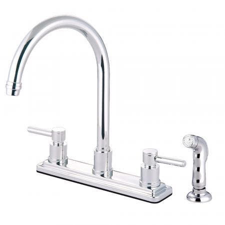 Kingston Brass KS8791DL Concord 8-Inch Centerset Kitchen Faucet, Polished Chrome