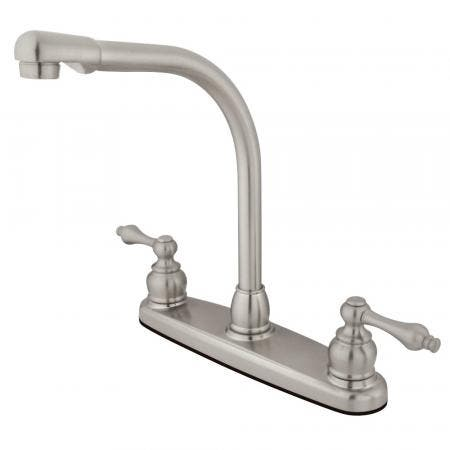 Kingston Brass GKB718ALLS Victorian Centerset Kitchen Faucet, Brushed Nickel
