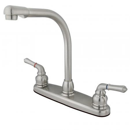 Kingston Brass GKB758LS Magellan Centerset Kitchen Faucet, Brushed Nickel