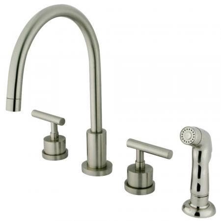 Kingston Brass KS8728CML Widespread Kitchen Faucet, Brushed Nickel