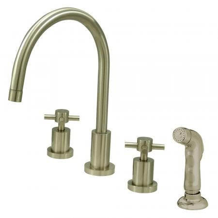 Kingston Brass KS8728DX Widespread Kitchen Faucet, Brushed Nickel