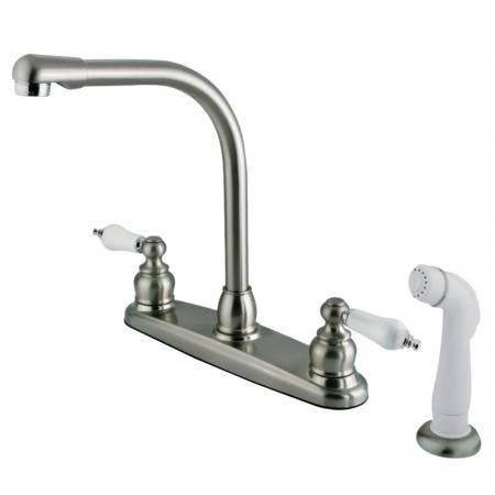 Kingston Brass GKB717 Victorian Centerset Kitchen Faucet, Brushed Nickel/Polished Chrome