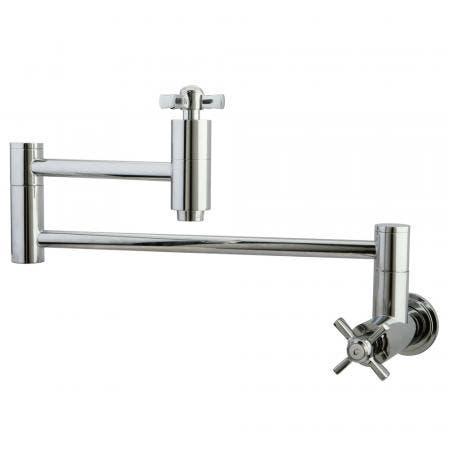 Kingston Brass KS8101ZX Millennium Wall Mount Pot Filler Kitchen Faucet, Polished Chrome