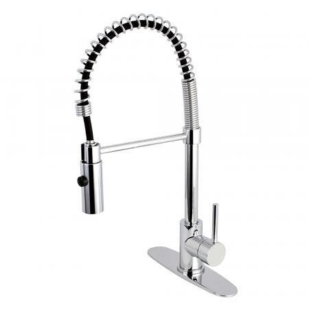 Gourmetier LS8771DL Concord Single-Handle Pre-Rinse Kitchen Faucet, Polished Chrome