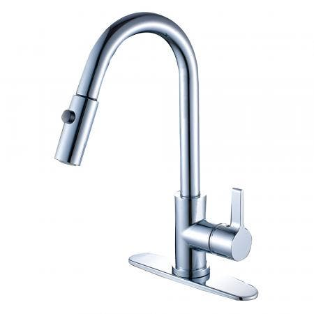 Gourmetier LS8781CTL Continental Single-Handle Pull-Down Kitchen Faucet, Polished Chrome