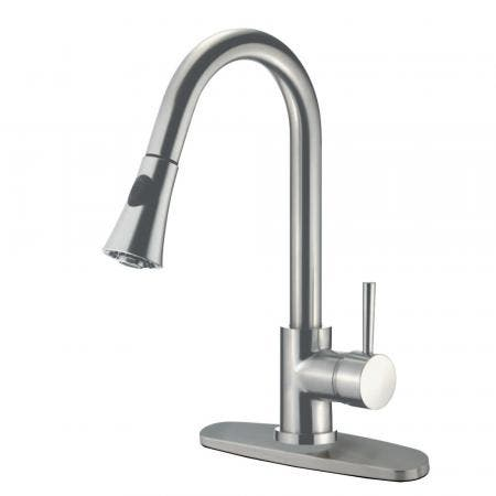 Gourmetier LS8728DL Concord Single-Handle Pull-Down Kitchen Faucet, Brushed Nickel