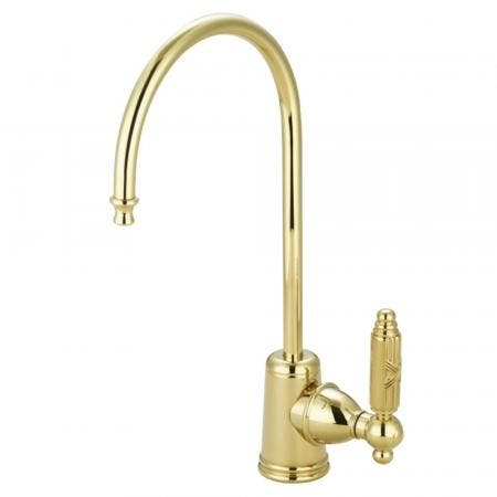Kingston Brass KS7192GL Georgian Single Handle Water Filtration Faucet, Polished Brass