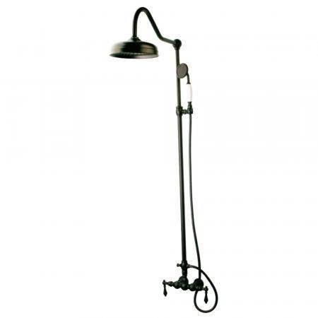 Kingston Brass CCK6175 Rain Drop Shower Combo, Oil Rubbed Bronze