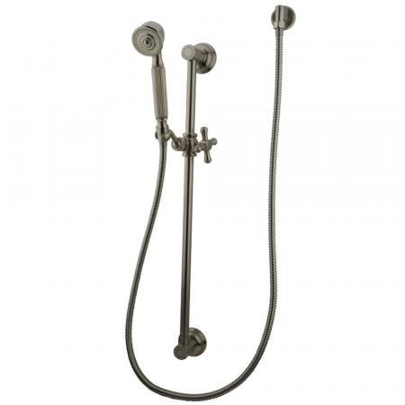 Kingston Brass KAK3328W8 Made To Match Shower Combo with Slide Bar, Brushed Nickel