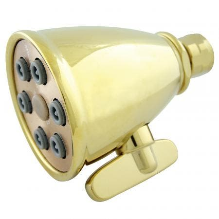 Kingston Brass K138A2 Victorian Adjustable Jet Spray Shower Head, Polished Brass