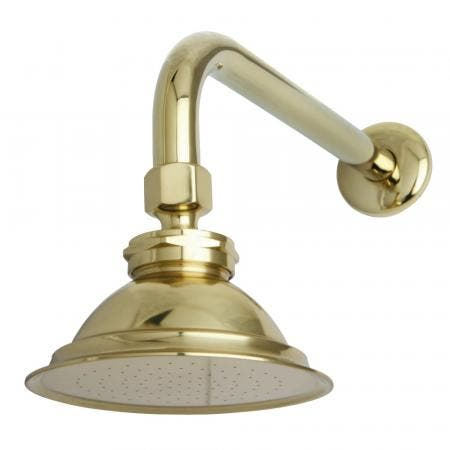 "Kingston Brass P10PBCK Victorian Brass Showerhead with 12"" Shower Arm Combo, Polished Brass"