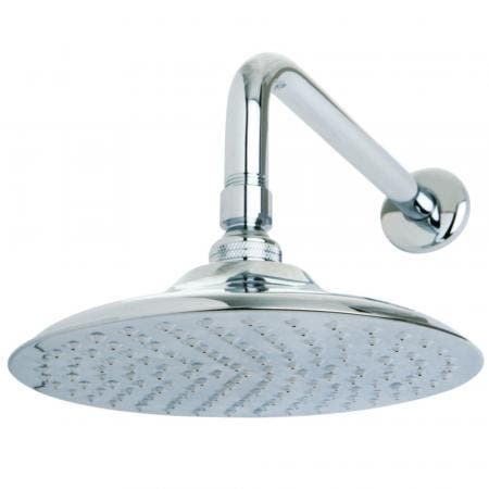 """Kingston Brass K136A1CK Victorian 8"""" Brass Shower Head with 12"""" Shower Arm, Polished Chrome"""