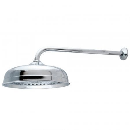 "Kingston Brass K225K11 Trimscape 10"" Shower Head With 17"" Shower Arm, Polished Chrome"
