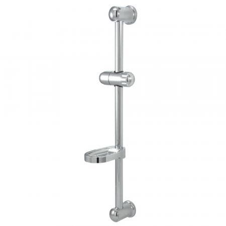 "Kingston Brass KX2522SG Vilbosch 24"" Slide Bar with Soap Dish and Hand Shower Holder, Polished Chrome"
