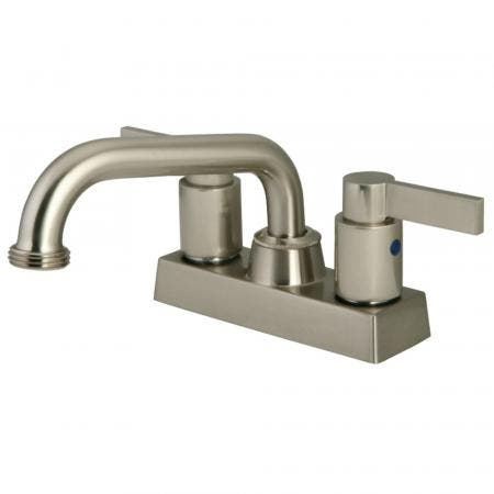 """Kingston Brass KB2478NDL Two Handle 4"""" Centerset Laundry Faucet, Brushed Nickel"""