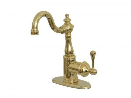 Kingston Brass KS7492BL English Vintage Bar Faucet with Cover Plate, Polished Brass