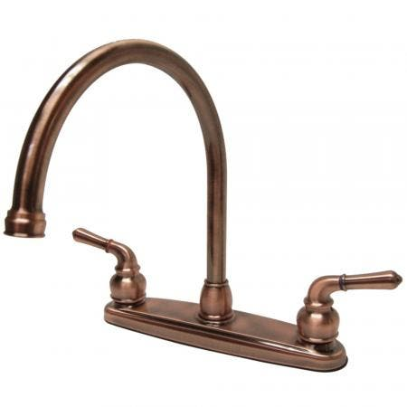 Kingston Brass GKB796LS Magellan Centerset Kitchen Faucet, Antique Copper