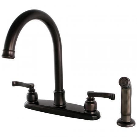 Kingston Brass FB7795FLSP Royale 8-Inch Centerset Kitchen Faucet with Sprayer, Oil Rubbed Bronze