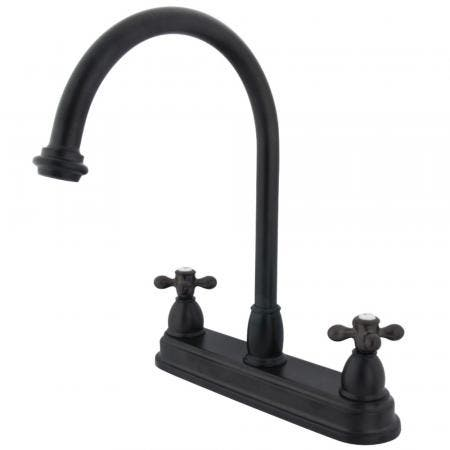 Kingston Brass KB3745AX Restoration Centerset Kitchen Faucet, Oil Rubbed Bronze