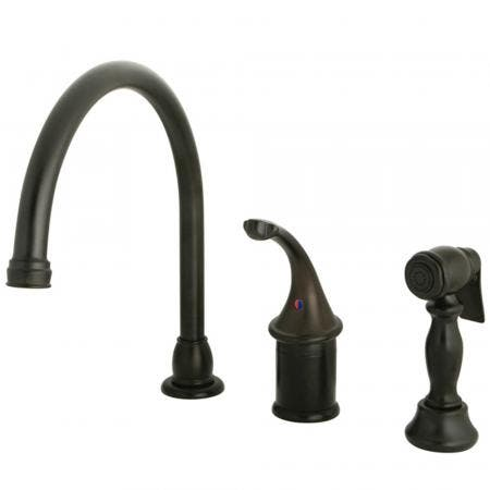Kingston Brass KB3815GLBS Widespread Kitchen Faucet, Oil Rubbed Bronze