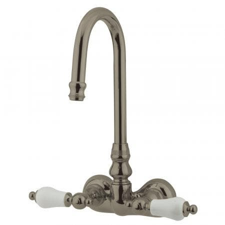 Kingston Brass CC75T8 Vintage 3-3/8-Inch Wall Mount Tub Faucet, Brushed Nickel