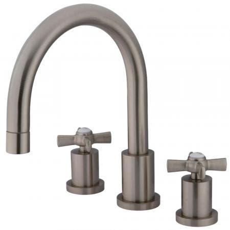 Kingston Brass KS8328ZX Millennium Roman Tub Faucet, Brushed Nickel