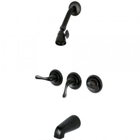 Kingston Brass KB2235YL Three Handle Tub Shower Faucet, Oil Rubbed Bronze