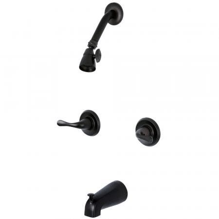 Kingston Brass KB2245YL Two Handle Tub Shower Fauce, Oil Rubbed Bronze