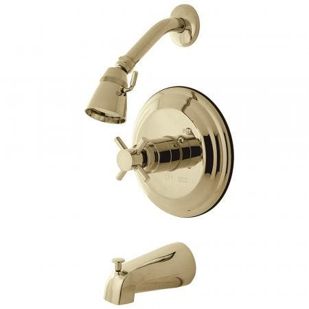 Kingston Brass KB2632DX Concord Tub & Shower Faucet, Polished Brass