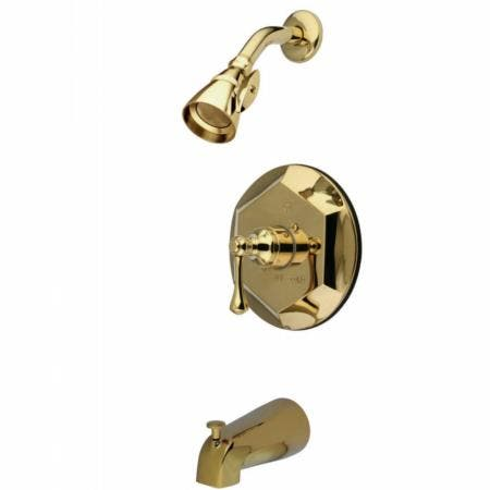Kingston Brass KB4632BL English Vintage Tub with Shower Faucet, Polished Brass