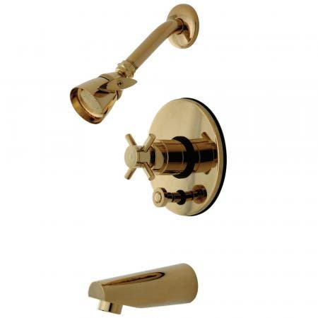 Kingston Brass KB86920DX Concord Tub & Shower Faucet, Polished Brass