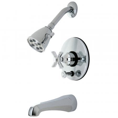 Kingston Brass VB86910ZX Millennium Tub and Shower Faucet, Polished Chrome