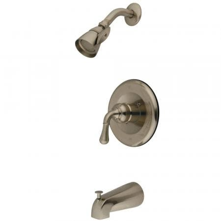 Kingston Brass GKB1638T Magellan Eco Tub and Shower Faucet Trim Kit Less Valve, Brushed Nickel