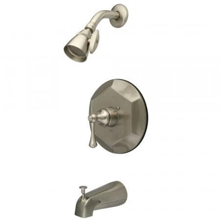Kingston Brass KB4638BL English Vintage Tub with Shower Faucet, Brushed Nickel