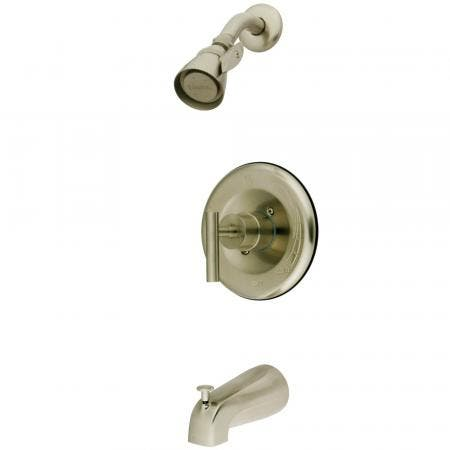 Kingston Brass KB6638CML Manhattan Single-Handle Tub and Shower Faucet, Brushed Nickel