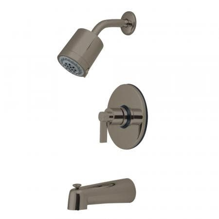 Kingston Brass KB6698NDL NuvoFusion Single-Handle Tub and Shower Faucet, Brushed Nickel