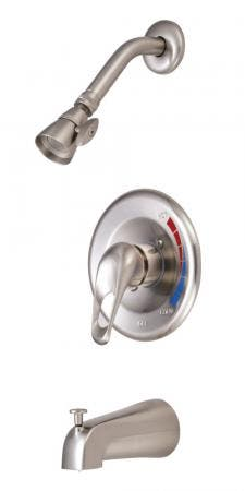 Kingston Brass KB698 Chatham Single Loop Handle Tub and Shower Faucet, Brushed Nickel