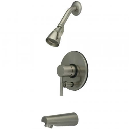 Kingston Brass KB86980DL Concord Tub & Shower Faucet, Brushed Nickel