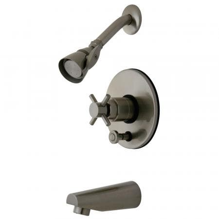 Kingston Brass KB86980DX Concord Tub & Shower Faucet, Brushed Nickel