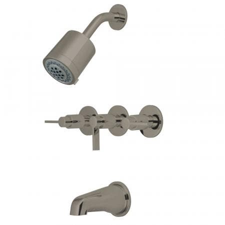 Kingston Brass KBX8138NDL NuvoFusion Tub & Shower Faucet, Brushed Nickel