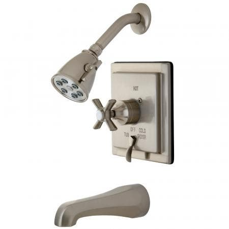 Kingston Brass VB86580ZX Tub/Shower Faucet, Brushed Nickel